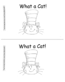 """Cat Hat Theme Reproducible Book, """"What a Cat!"""" Color Words"""