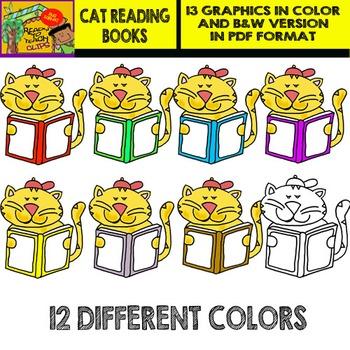 Cat Holding Books