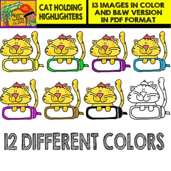 Cat Holding Highlighters