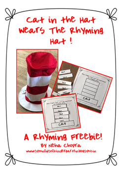 Cat In The Hat Rhyming Sheets- A Freebie!