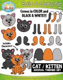 Cat / Kitten Build-A-Character Clipart {Zip-A-Dee-Doo-Dah Designs}