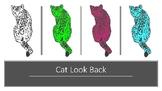 Cat Look Back Pop Clip Art