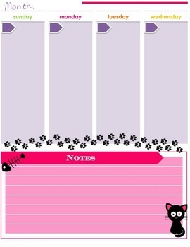 Cat Lovers Daily Planner {Printable}