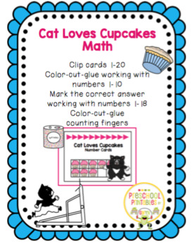 Cat Loves Cupcakes Math