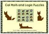 No Prep - Cat Math and Puzzles Pack
