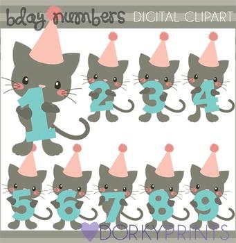 Cat Numbers Clip Art