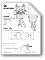 Cat Paper Mitt Puppet