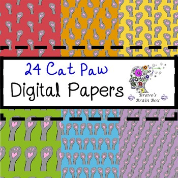 Cat Paw Digital Papers