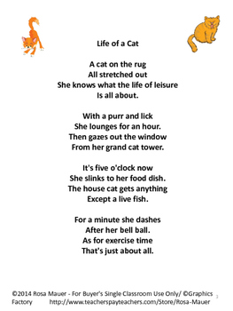 Cats Poetry Packet
