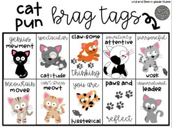 Cute Cat Pun Brag Tags