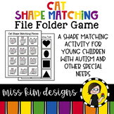 Folder Game: Cat Shape Matching for Students with Autism & Special Needs
