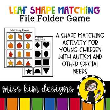 Cat Shape Match File Folder Game for Special Education