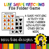 Folder Game: Leaf Shape Matching for Students with Autism & Special Needs