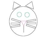 Cat Shape Trace Practice