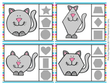 Cat Shapes Clip Cards