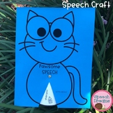 Cat Speech Therapy Craft {articulation and language} Homework