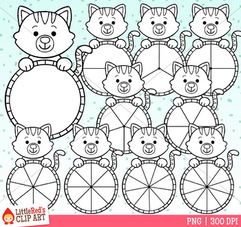 Cat Spinners Clip Art
