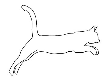 Cat Template for Art Project Cat Coloring Page Cat Outline ...