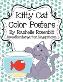 Cat Theme Color Posters