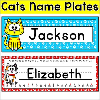 Cat Theme Name Plates