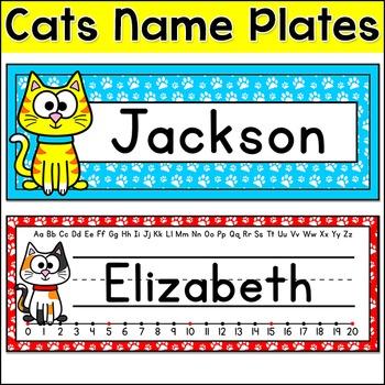 Cat Theme Name Plates