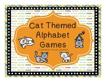 Cat Themed Alphabet Games