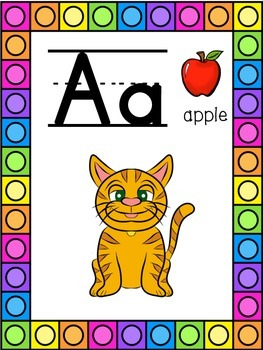 Cat Themed Alphabet Posters