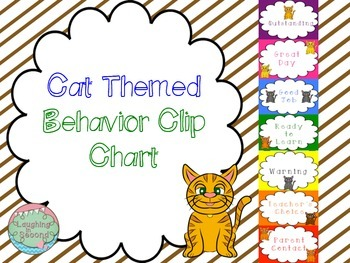 Cat Themed Behavior Clip Chart