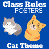 Cat Themed Classroom Decor | Class Rules Kindergarten | Kindergarten Class Rules
