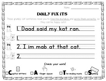 Cat Themed Daily Fix Its