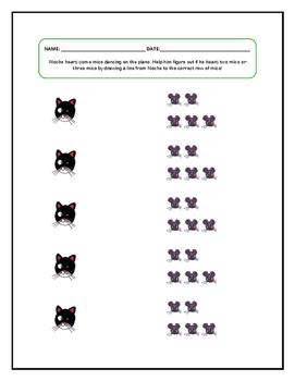 Cat Themed Ear Training Worksheet
