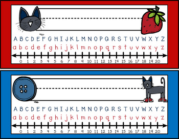 Groovy Cat Themed Nameplates