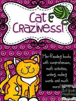 Cat Themed Reading, Writing, and MATH activities!