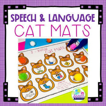 Cat Themed Smash Mats for Speech Therapy