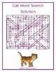 Cat Word Search Puzzle