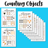 Cat and Dog Counting Objects 1-10 Worksheets Math Counting Objects to 10