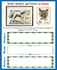 Cat and Dog Stamps and Coins