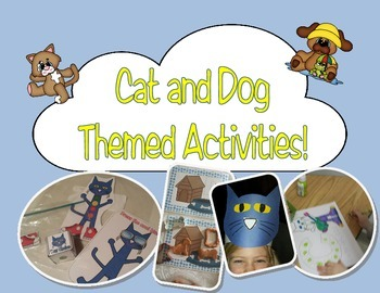 Cat and Dog Themed Activities, Games, Pocket Chart manipul