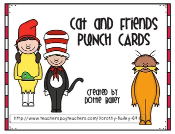 Cat and Friends Punch Cards