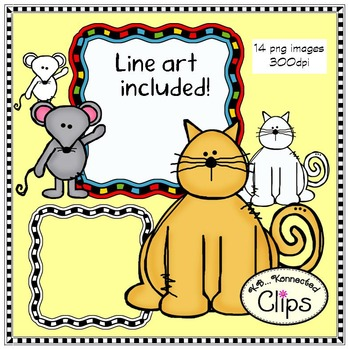 Cat and Mouse Mini Clip Art Collection