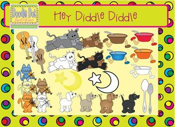 Cat and the Fiddle Graphic Set