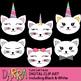 Cat clip art, Cute cat faces clipart