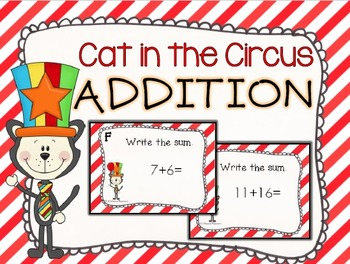 Cat in the Circus Addition Task Cards