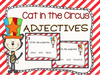Cat in the Circus Adjective Task Cards