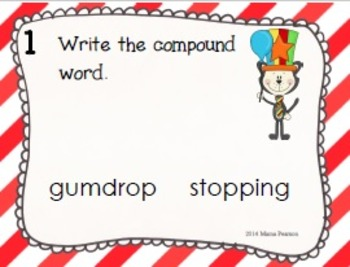 Cat in the Circus Compound Word Task Cards