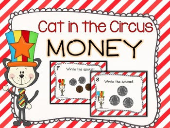 Cat in the Circus Money Task Cards