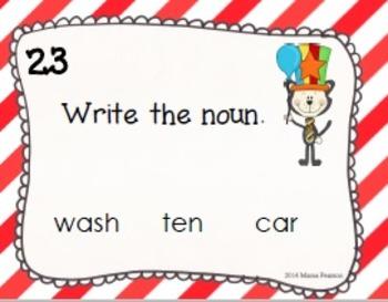 Cat in the Circus Noun Task Cards