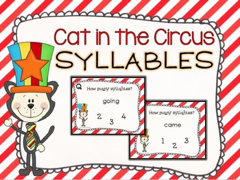 Cat in the Circus Syllables Task Cards