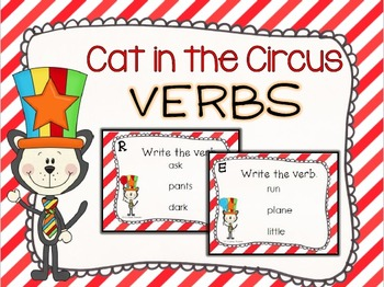 Cat in the Circus Verb Task Cards