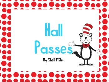 Cat in the Funny Hat Hall Passes